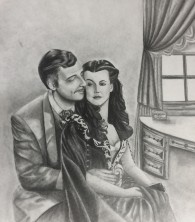 Gone With the Wind Boudoir II Drawing