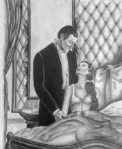 Rhett Butler and Scarlett O'Hara art.