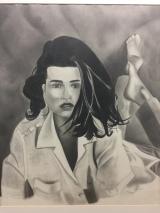 Lying Lady Drawing
