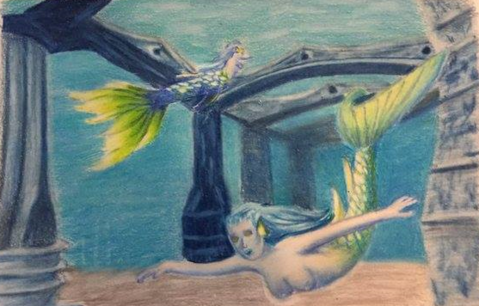 Bahamas Mermaids Drawing