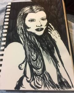 Ink Lady Illustration