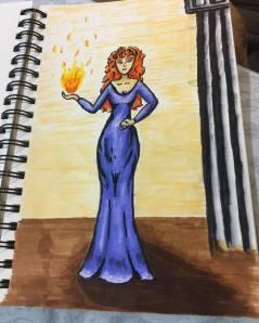 Supernatural Rowena Fan Art Illustration