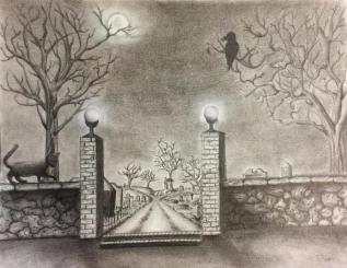 The Cemetery At Night, Jessica Jewett