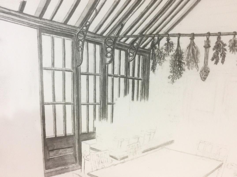 Witch Cottage No. 3, WIP, Jessica Jewett