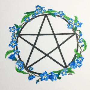 Forget-Me-Not Pentacle, Jessica Jewett