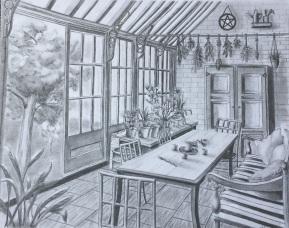 Witch Cottage No. 3, Jessica Jewett
